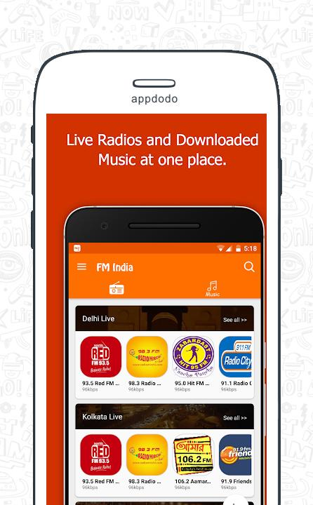 FM Radio India - Live Stations  screenshot 2
