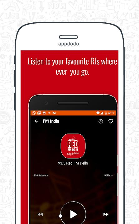 FM Radio India - Live Stations  screenshot 3