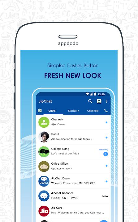 JioChat: Free Video Call & SMS App - Download