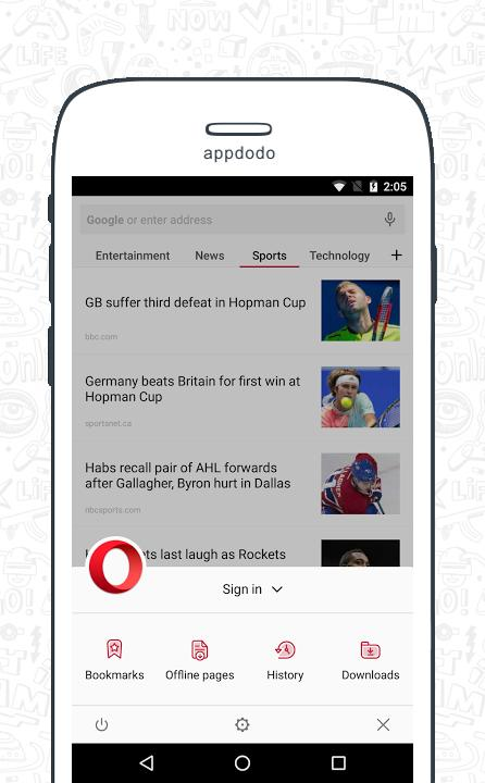 Opera Browser screenshot 2