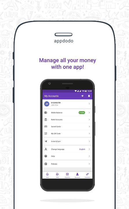 phonepe  money transfer recharge  bill payment app