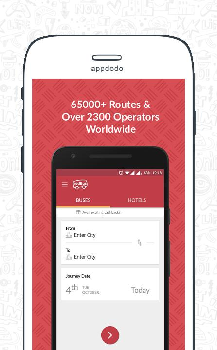 Redbus screenshot 1