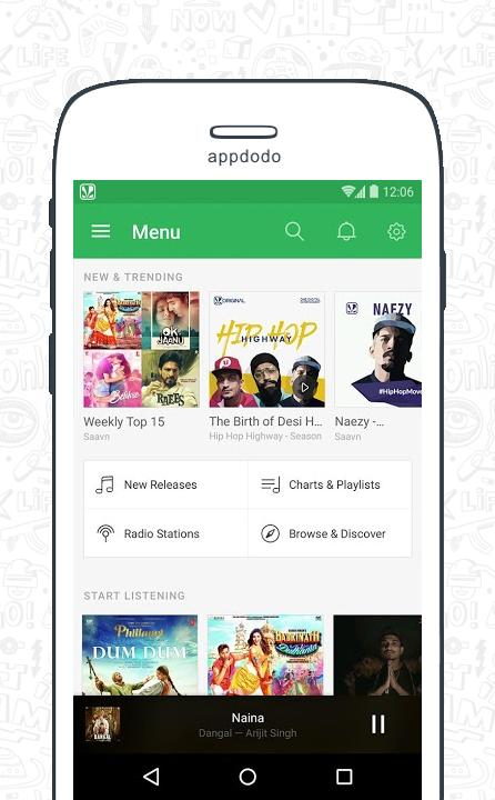 Saavn screenshot 1