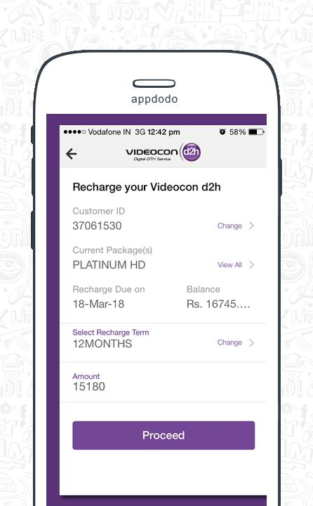 Videocon D2H Recharge screenshot 2