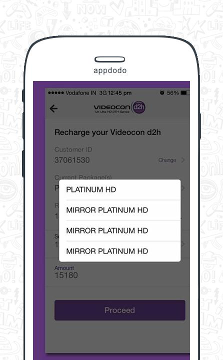 Videocon D2H Recharge screenshot 8