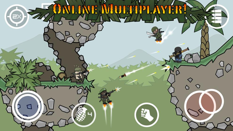 Doodle Army 2 : Mini Militia screenshot 1
