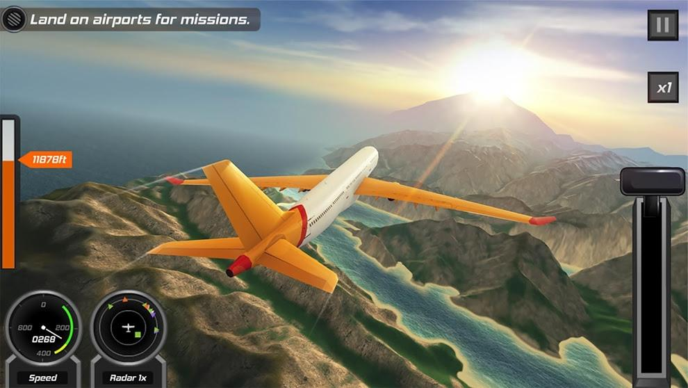 Flight pilot simulator 3D  Free screenshot 18